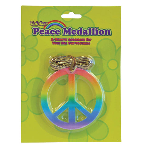 Rainbow Peace Medallion