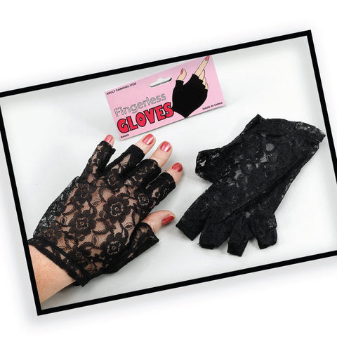 Black Velvet Trim Cat Mask + Gloves