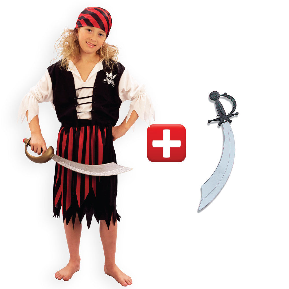 Girls Pirate Costume  sc 1 st  Fancy Dress Madness & Kids Pirate Costumes Pirate Boy Pirate Girl Pirate Party Book Week ...