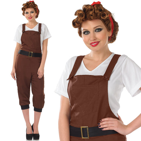 Ladies 1940s Land Girl Costume