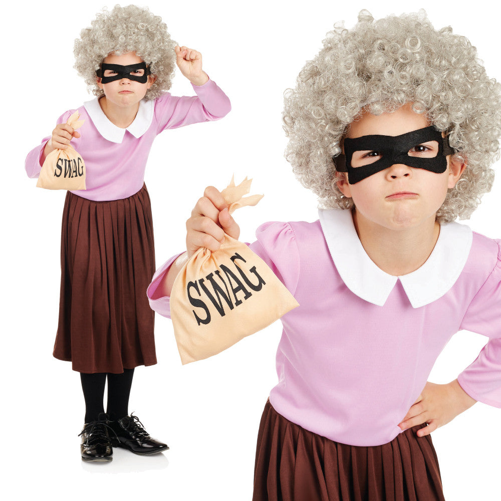 Girls Gangsta Granny Costume