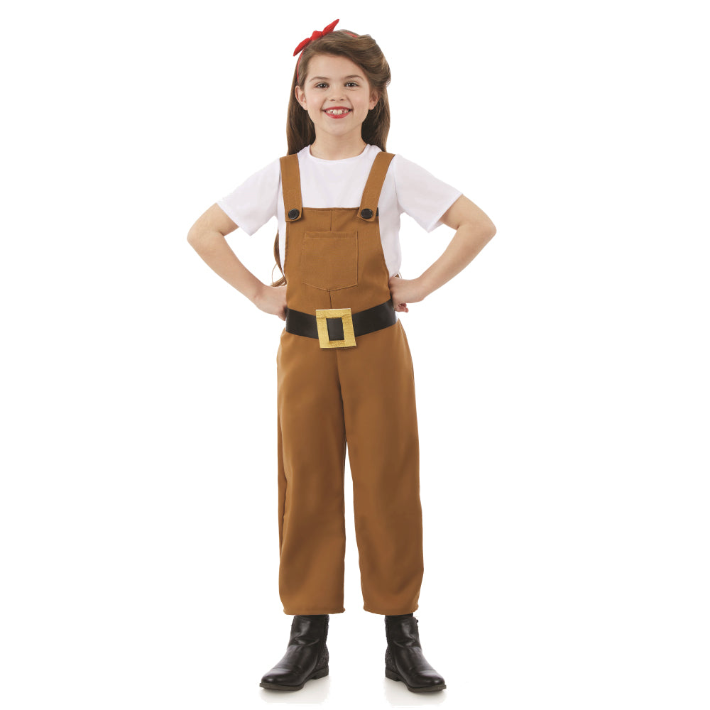 Girls Land Girl Costume