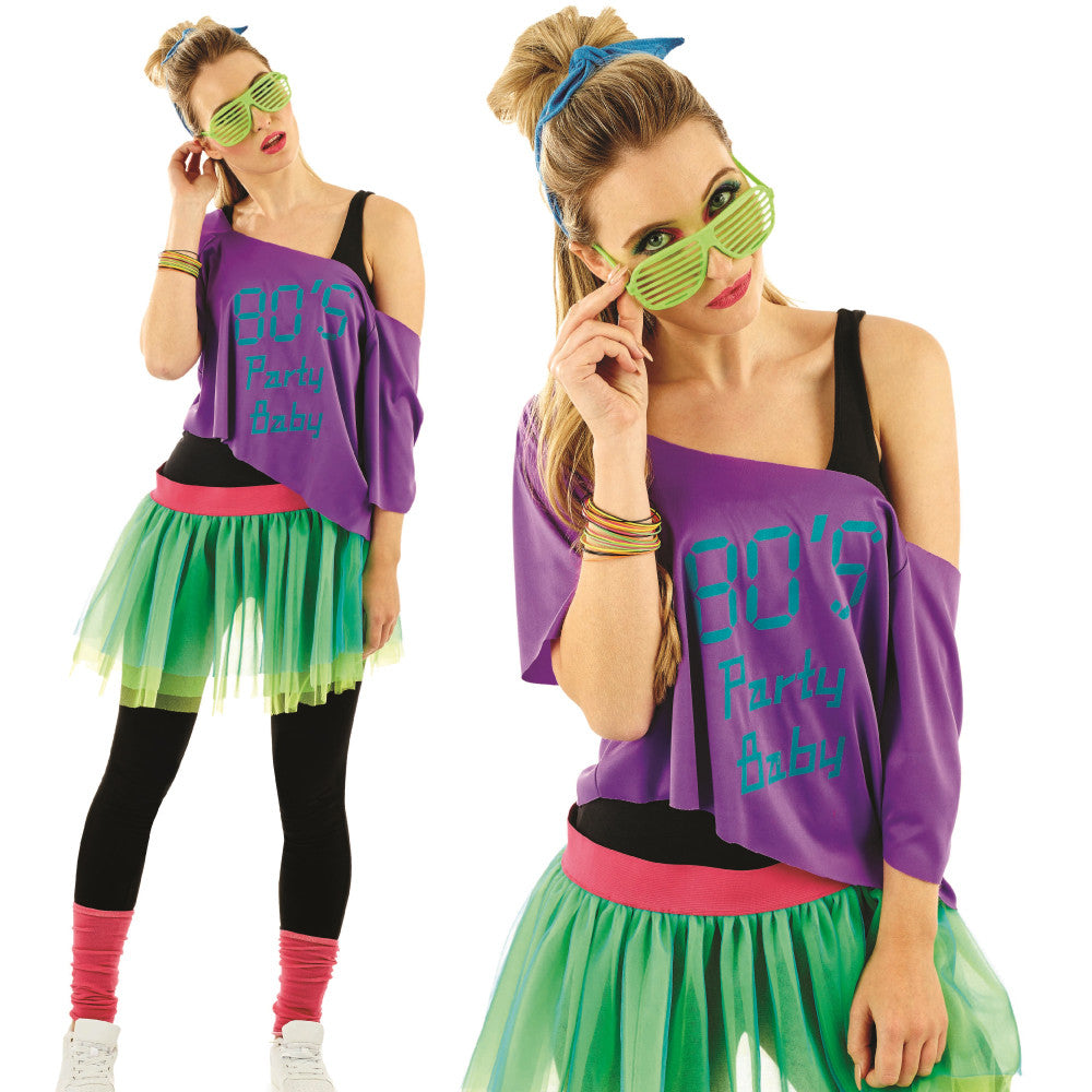 Ladies 80's Tutu Kit