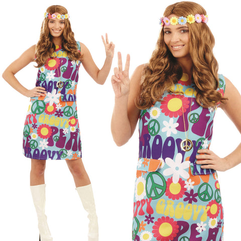Ladies Groovy Hippie Dress