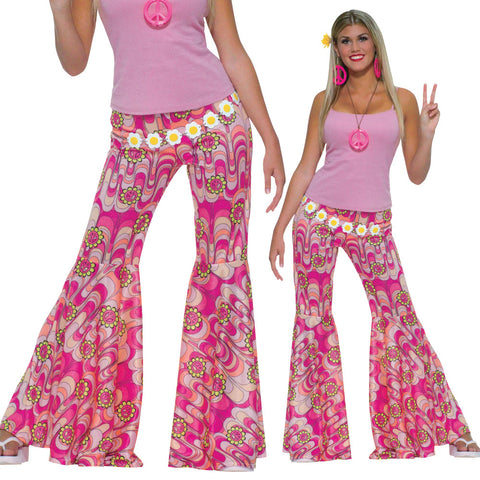 Ladies Hippie Bell Bottom Trousers