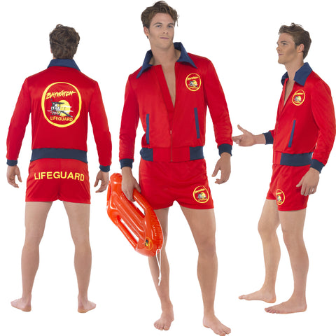 Mens Officially Licensed Baywatch Lifeguard Costume