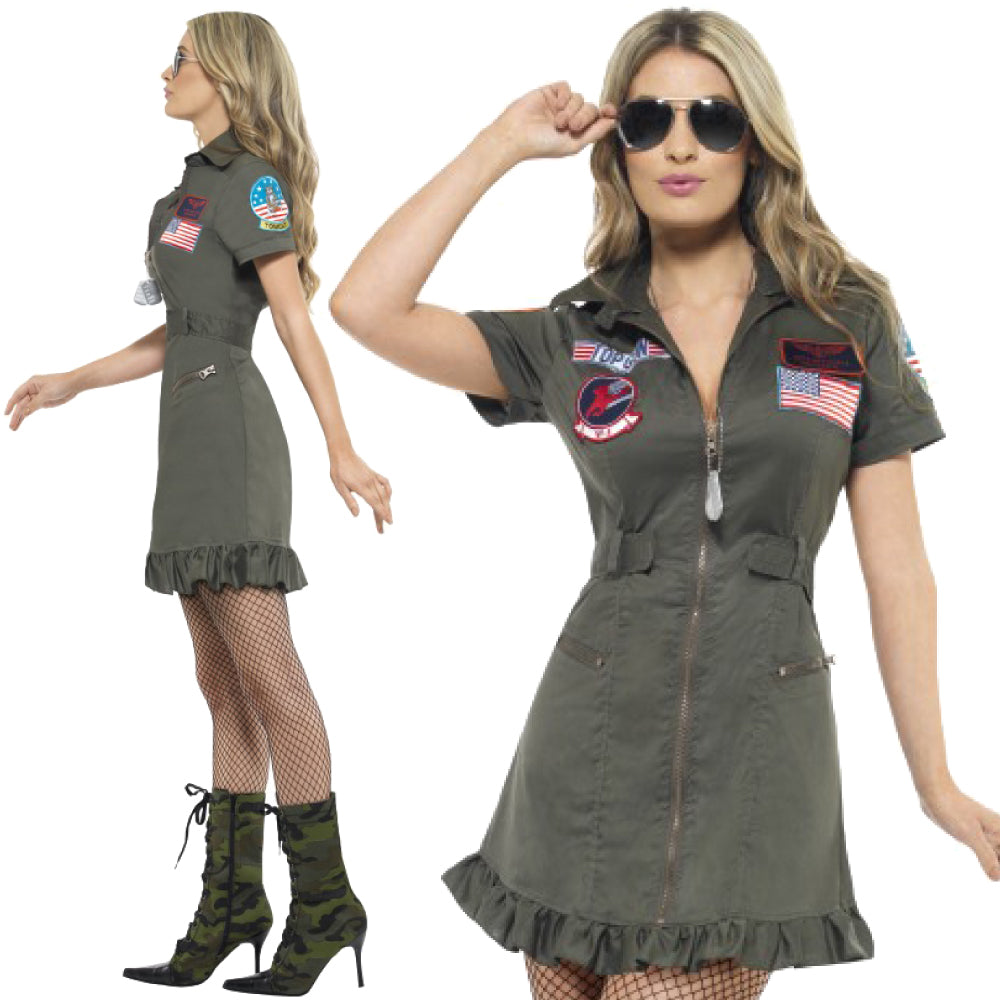 Ladies Officially Licensed Top Gun Costume