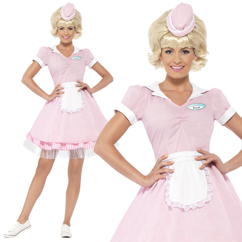 Ladies 50's Diner Girl Costume