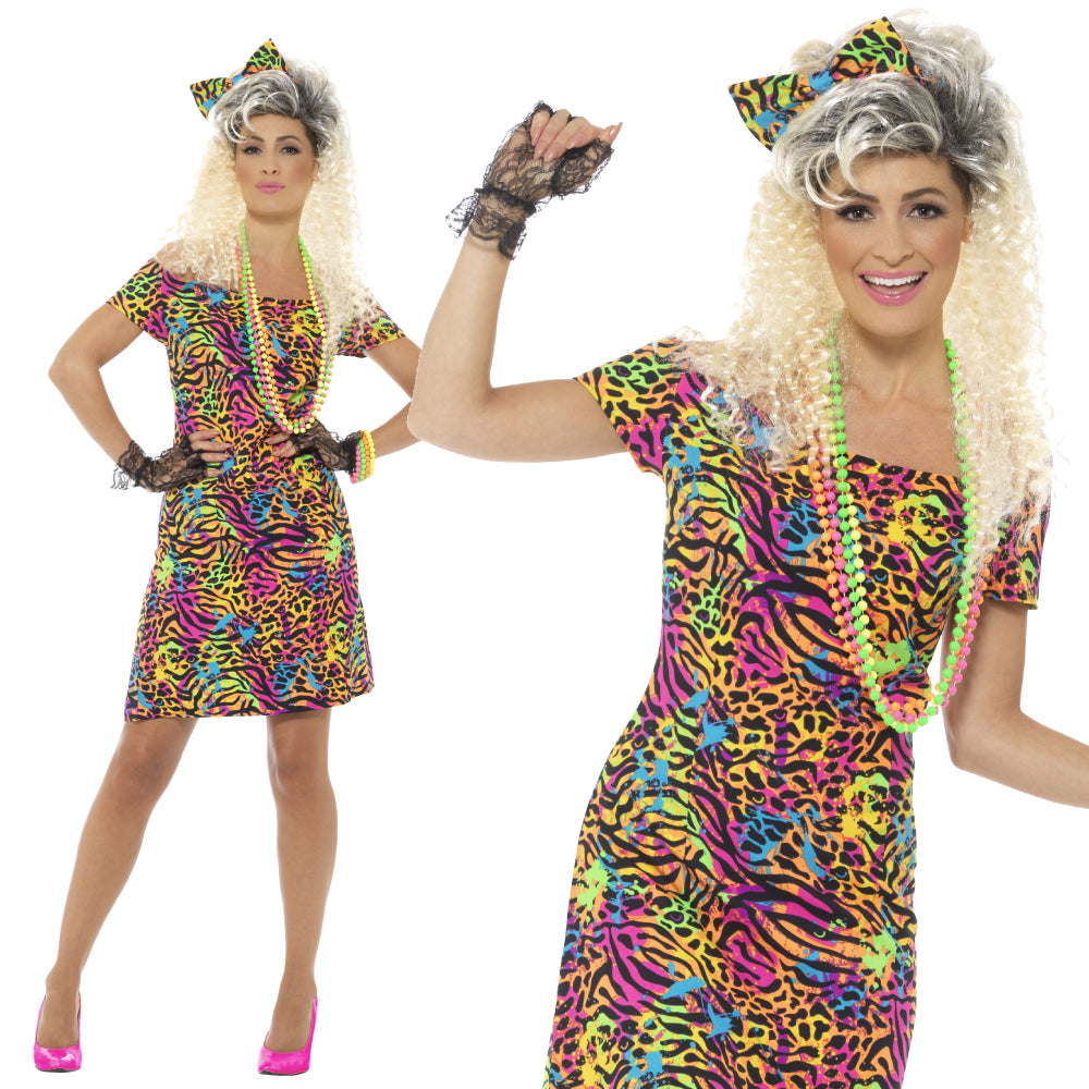 Ladies 80S Party Animal Costume – Fancy Dress Madness