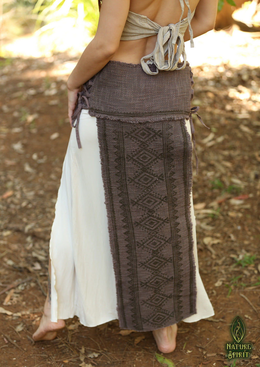 Hand Block Tribal Panel Skirt