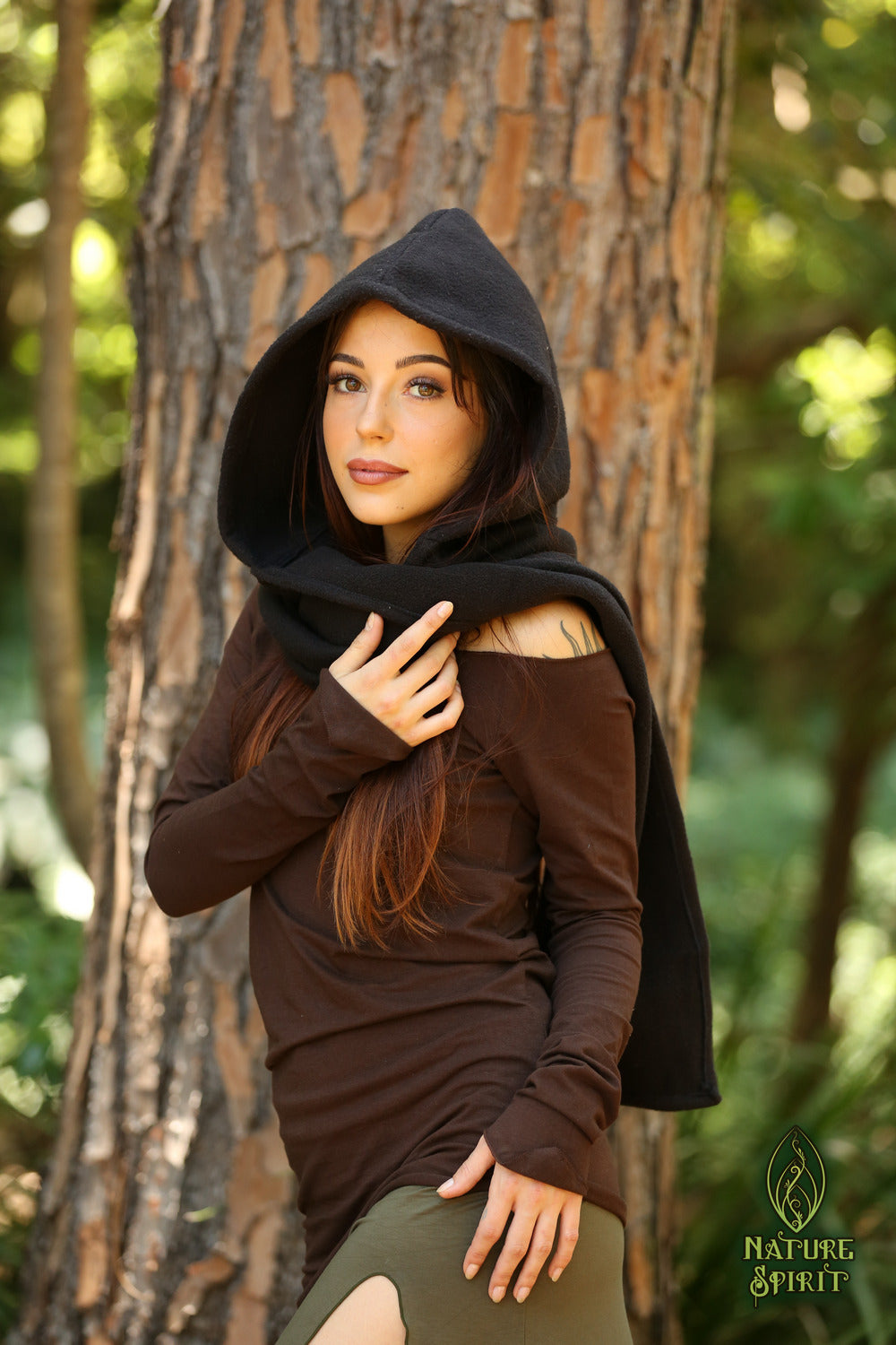 Warm Winter Hooded Scarf
