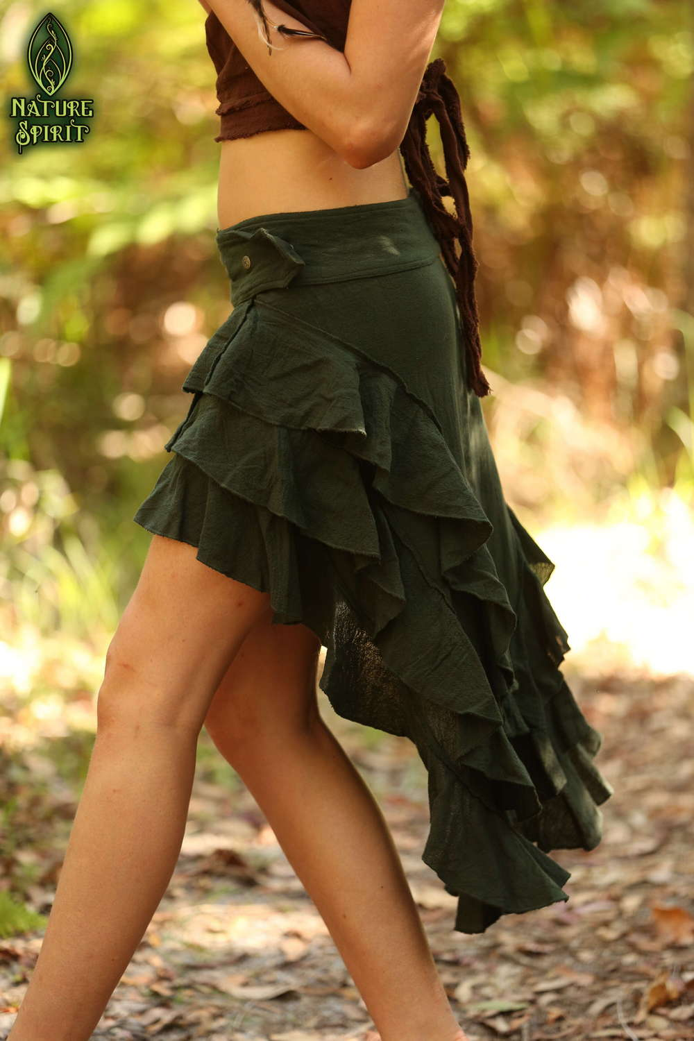 Cotton Ruffle Skirt