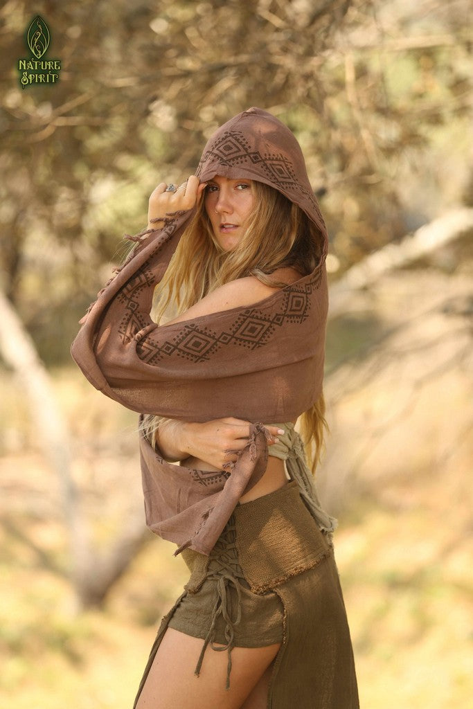 Tribal Hooded Scarf