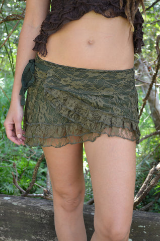 Frilly Pixie Mini Skirt