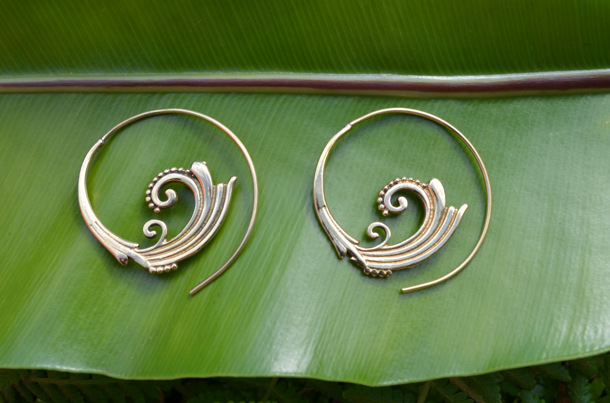 Corolla Brass Earrings