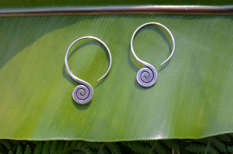 Hill-Tribe Earrings - Sterling Silver Earrings.