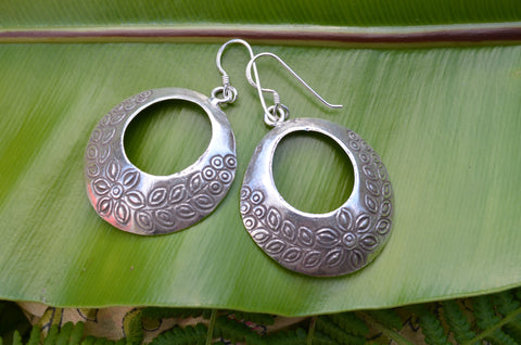 Hill-Tribe Earrings - Sterling Silver.