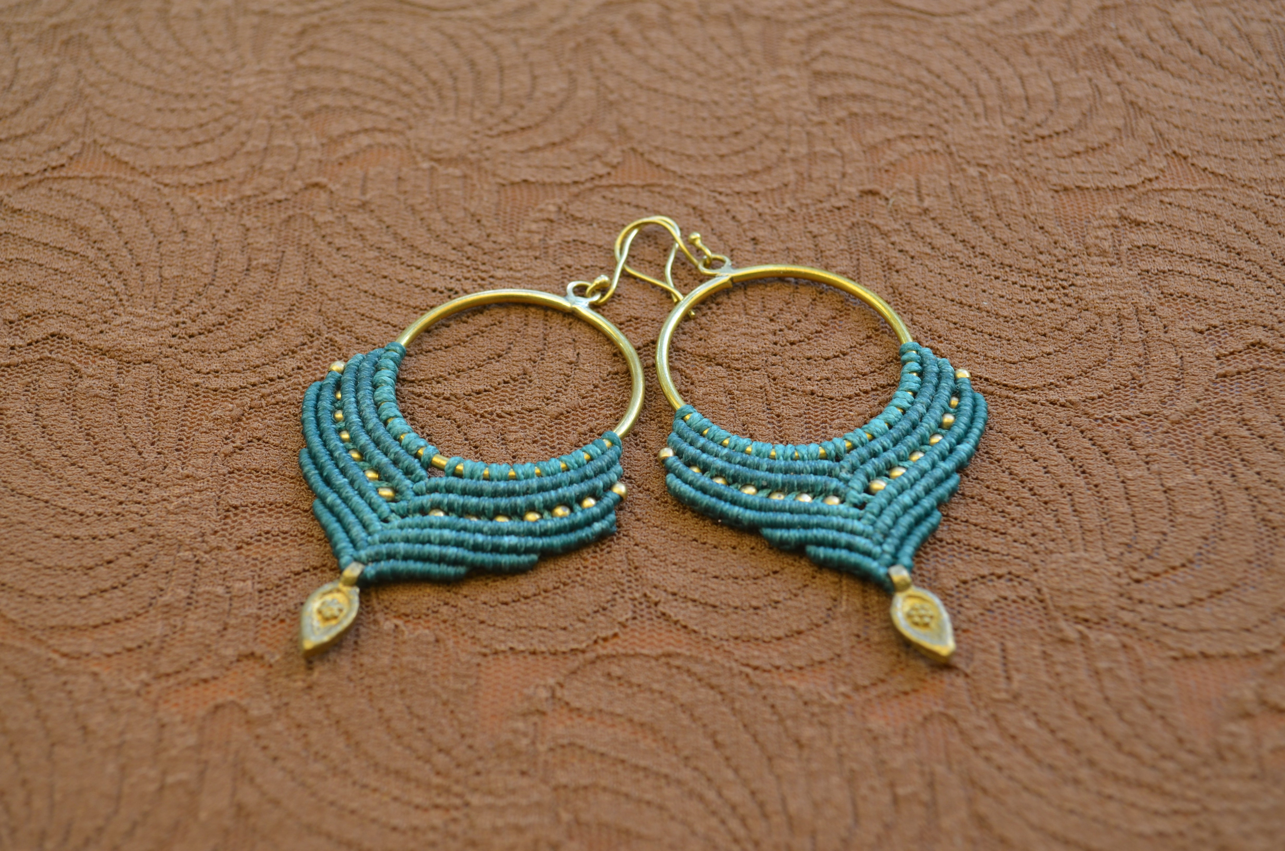 Macrame Earrings - Blue