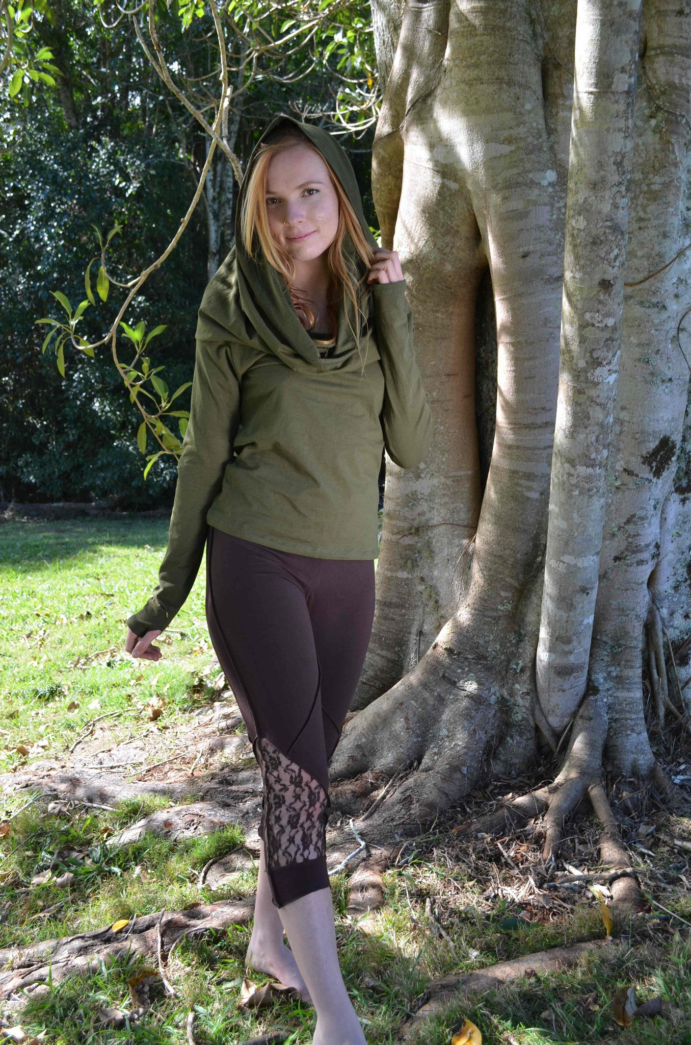 Wanderer Long Sleeved Top - Cowl Neck Hoodie