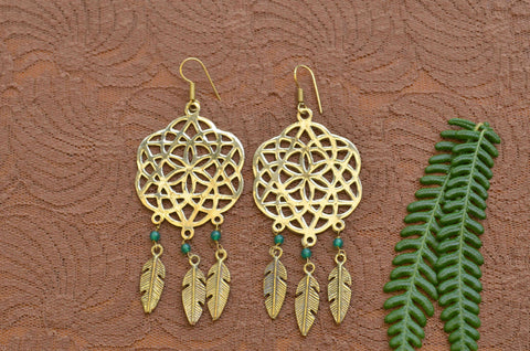 Macrame Earrings - Purple