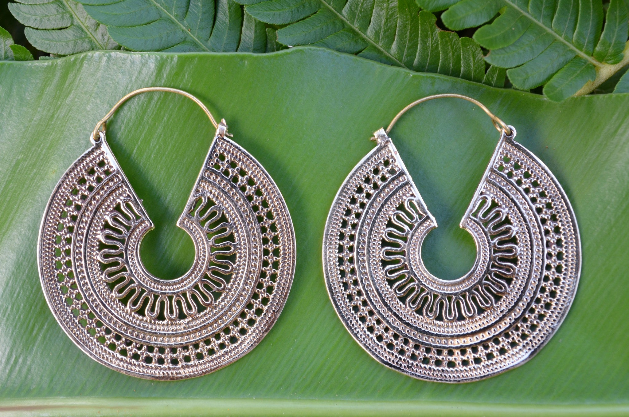 Gypsy Keyhole Brass Earrings