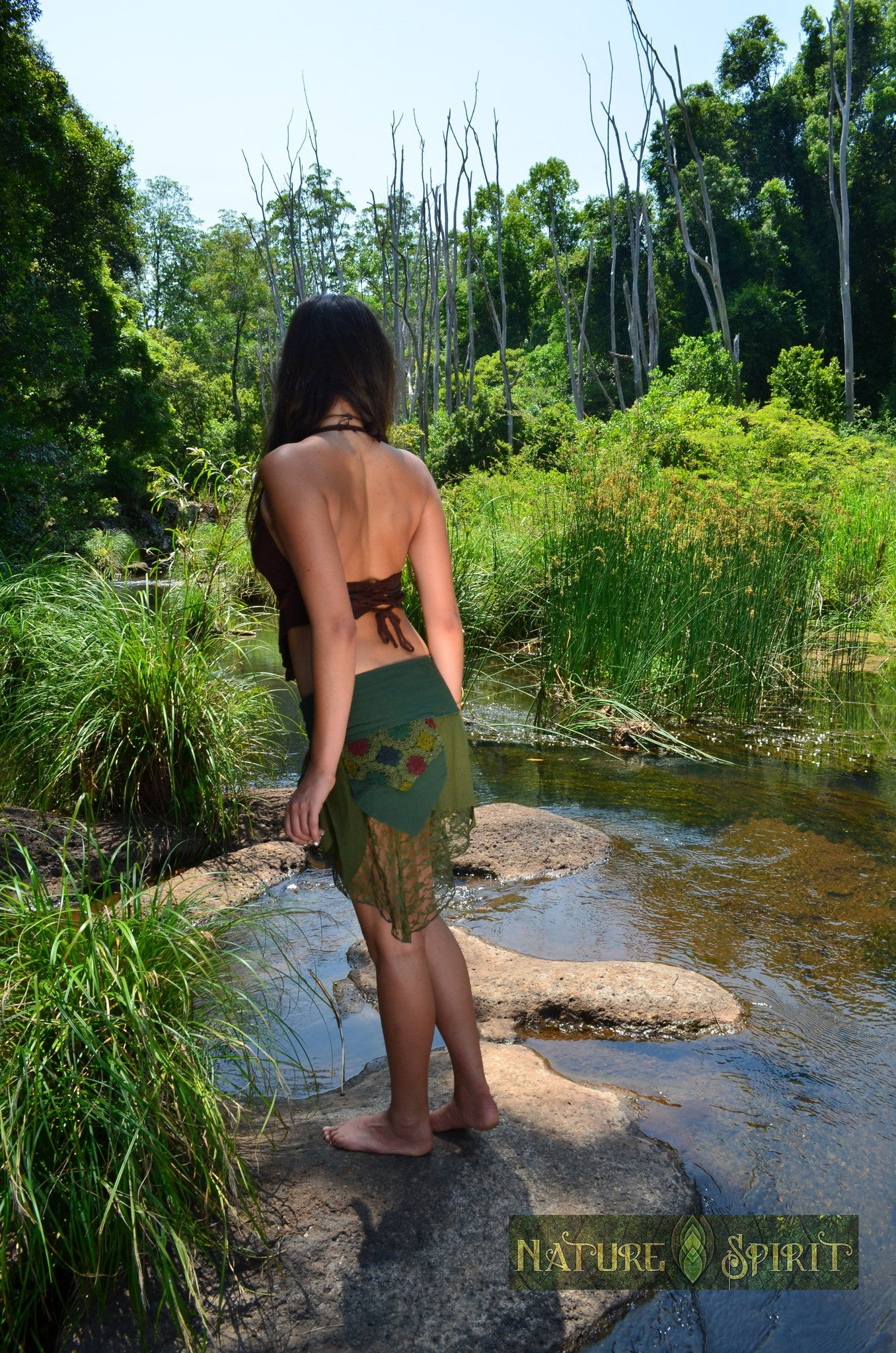 Forest Faerie Long Skirt with Split