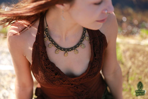 Macrame Necklaces with Brass