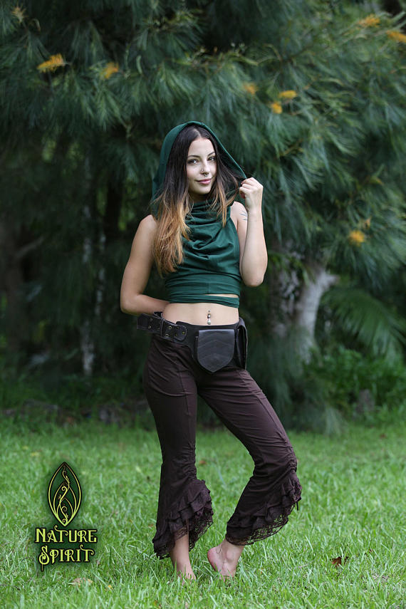 2 Leaf Pocket Belt -Brown- Utility Belt, Hip Bag.