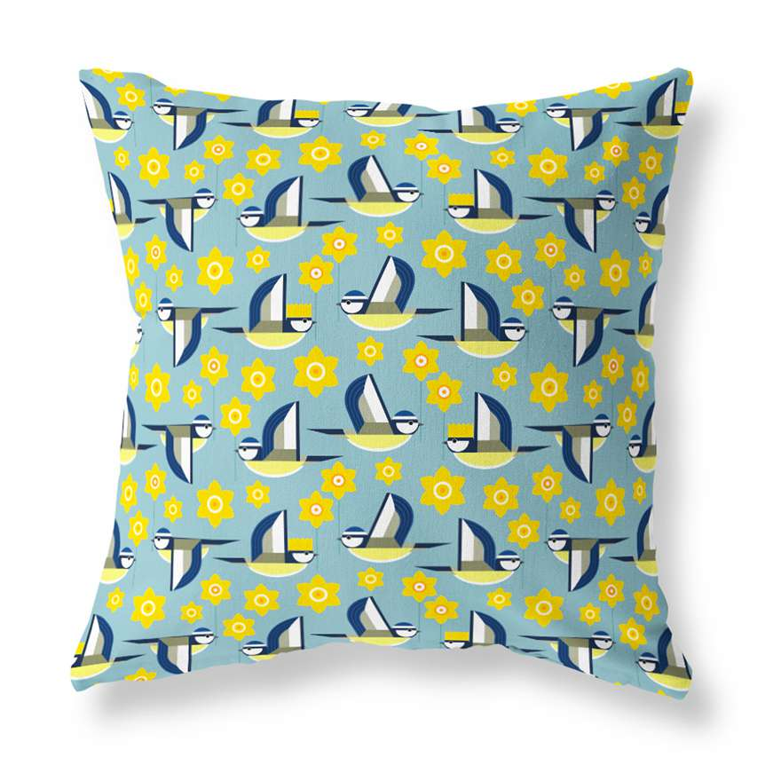 Marie Curie x I Like Birds Cushion Cover