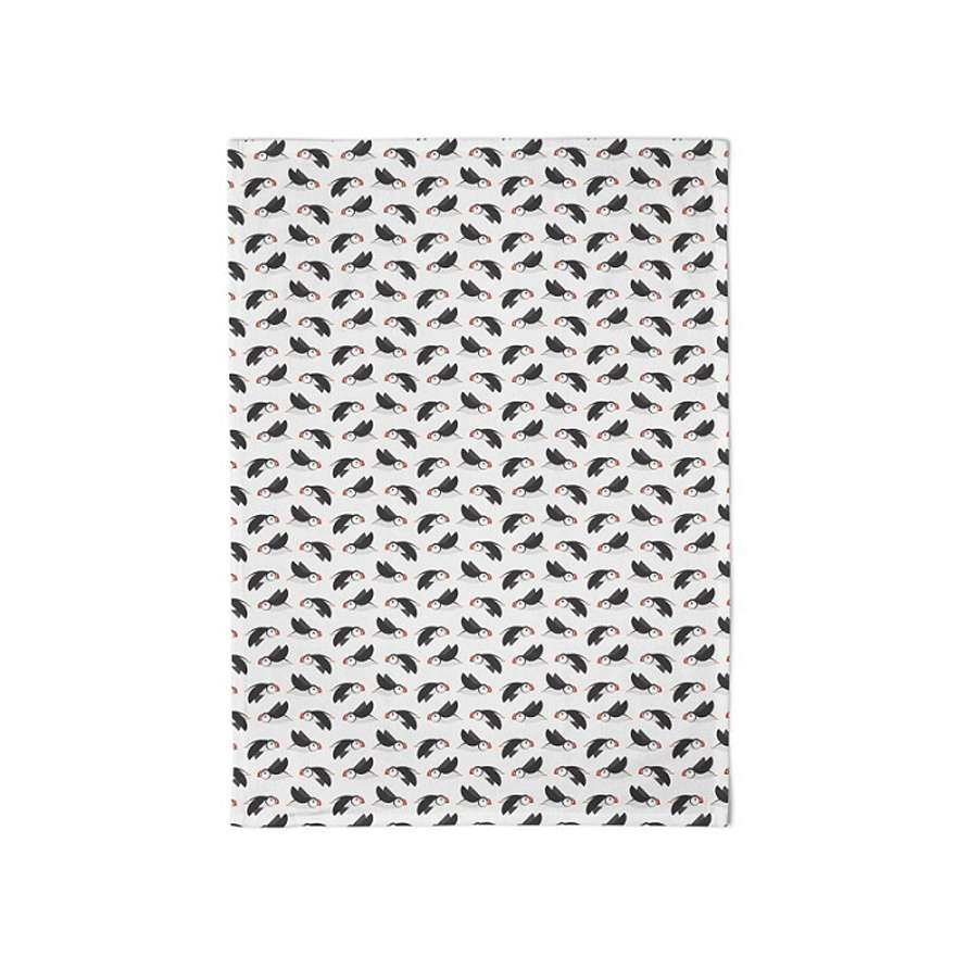 Puffin Circus Tea Towel