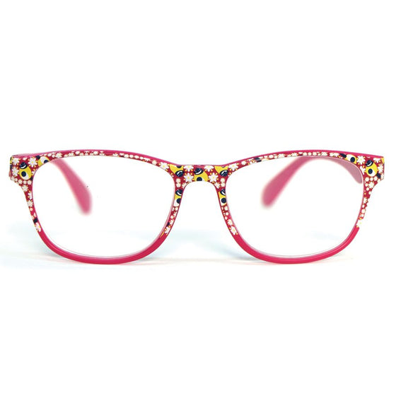 Reading Glasses: Blue Tit in Fuchsia