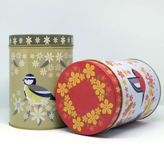 Birds & Blooms Tea Caddy Tins