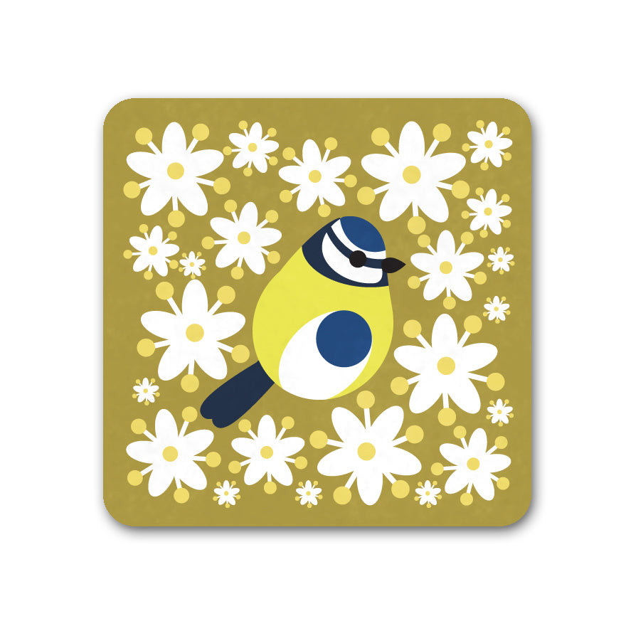Blue Tit Coaster - I Like Birds - Beautiful Bird Greeting Cards