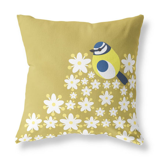 Blue Tit Cushion Cover - I Like Birds - Beautiful Bird Greeting Cards