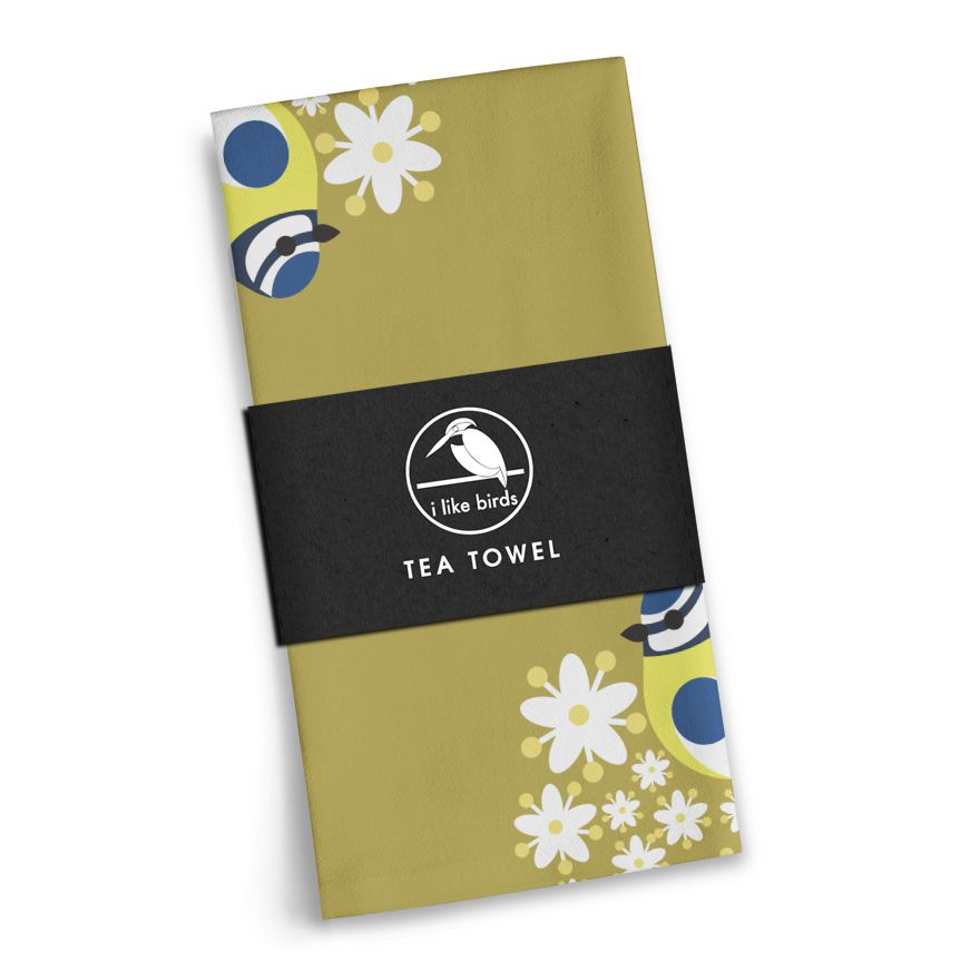 Blue Tit Tea Towel