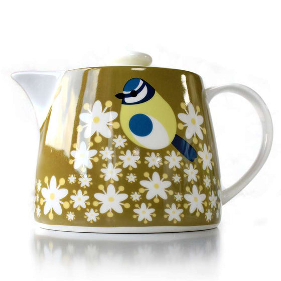 Blue Tit Tea Pot