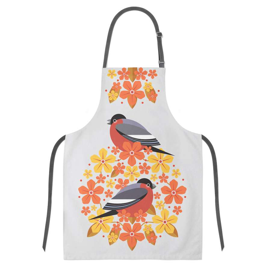 Birds & Blooms Bullfinch Apron
