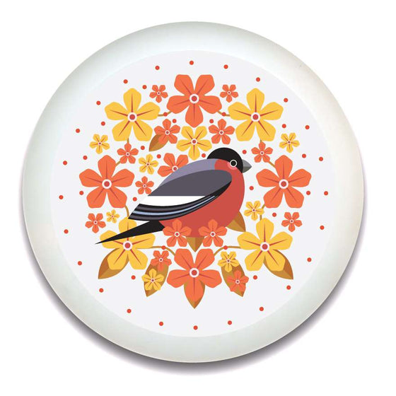 Birds & Blooms Bullfinch Tray