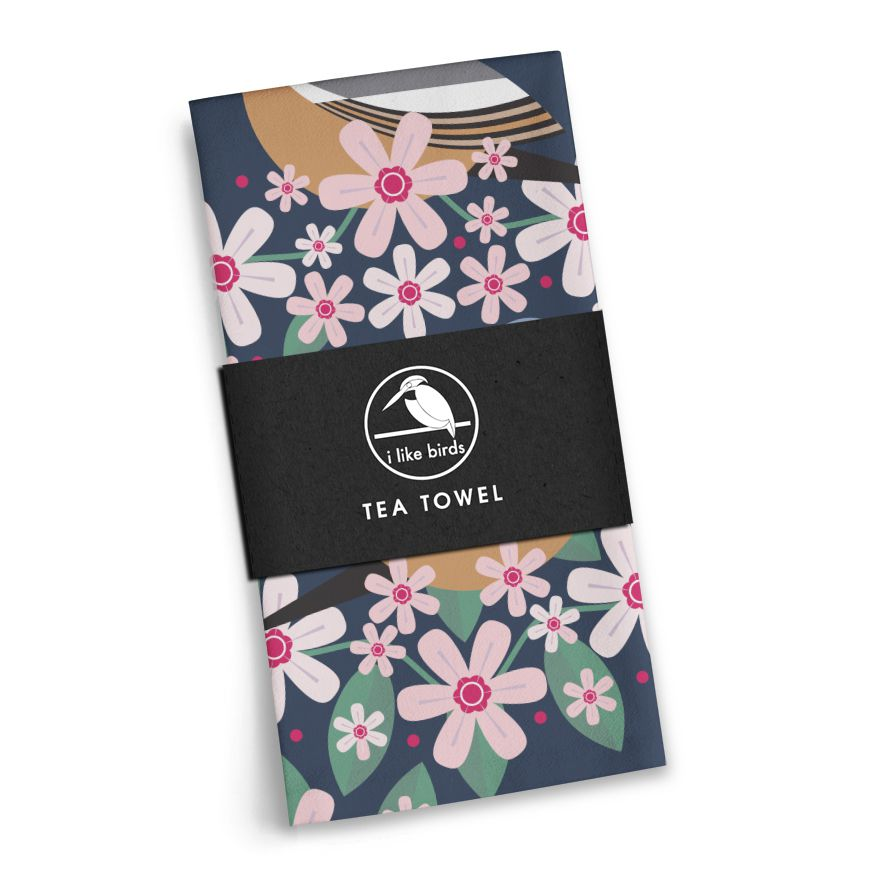 Birds & Blooms Chaffinch Tea Towel