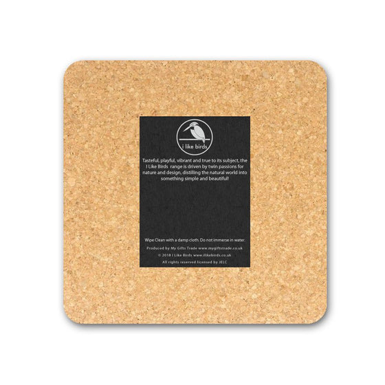 Wheatear Coaster - I Like Birds - Beautiful Bird Greeting Cards