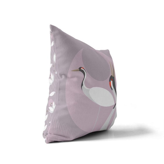 Crane Cushion Cover - I Like Birds - Beautiful Bird Greeting Cards