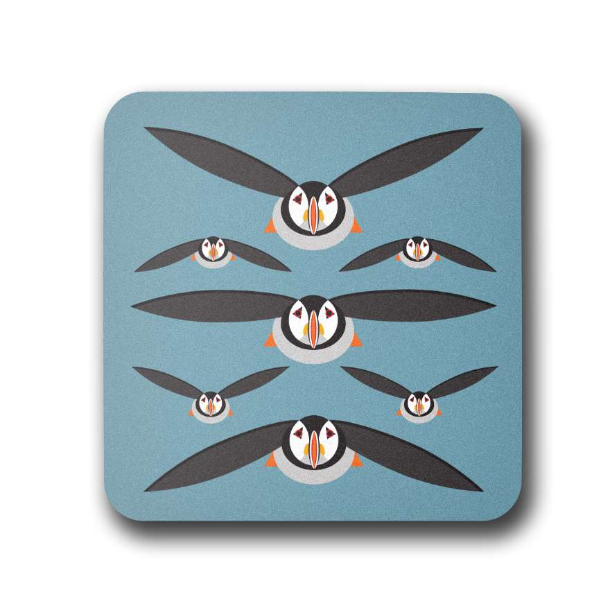 Flying Puffins Coaster