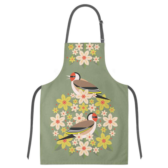 Birds & Blooms Goldfinch Apron