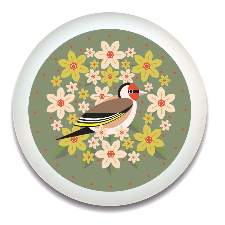 Birds & Blooms Goldfinch Tray