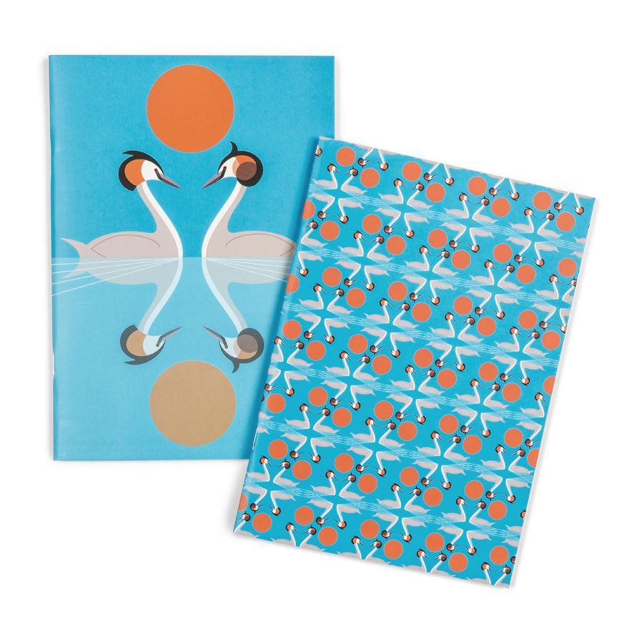 Nesting Set of Grebe Notebooks - I Like Birds - Beautiful Bird Greeting Cards