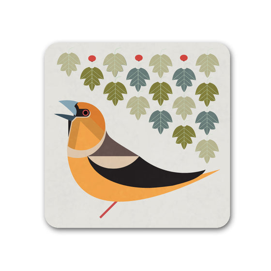 Hawfinch Coaster - I Like Birds - Beautiful Bird Greeting Cards