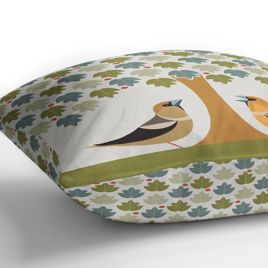 Hawfinch Cushion Cover - I Like Birds - Beautiful Bird Greeting Cards