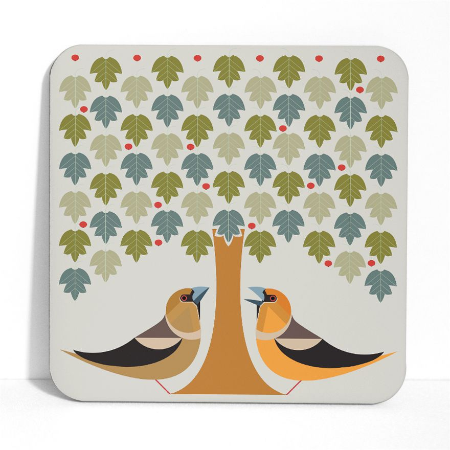 Hawfinch Placemat - I Like Birds - Beautiful Bird Greeting Cards
