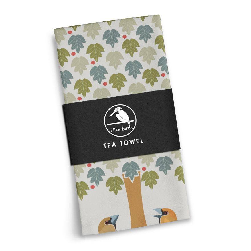 Hawfinch Tea Towel