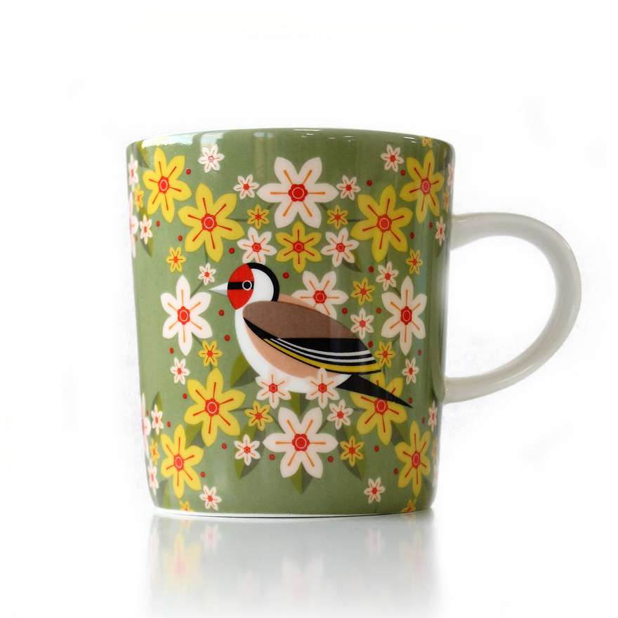 Birds & Blooms Goldfinch Mug